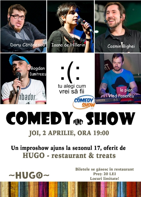 Hugo restaurants_comedy show spectacol cluj