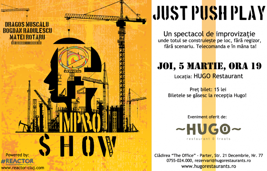 Just Push Play la Hugo