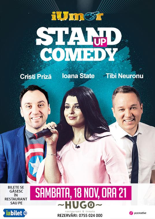 STAND-UP COMEDY cu Ioana State, Tibi Neuronu si Cristi Priză