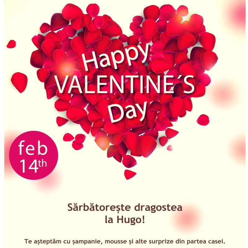 Sărbătorește dragostea la Hugo!