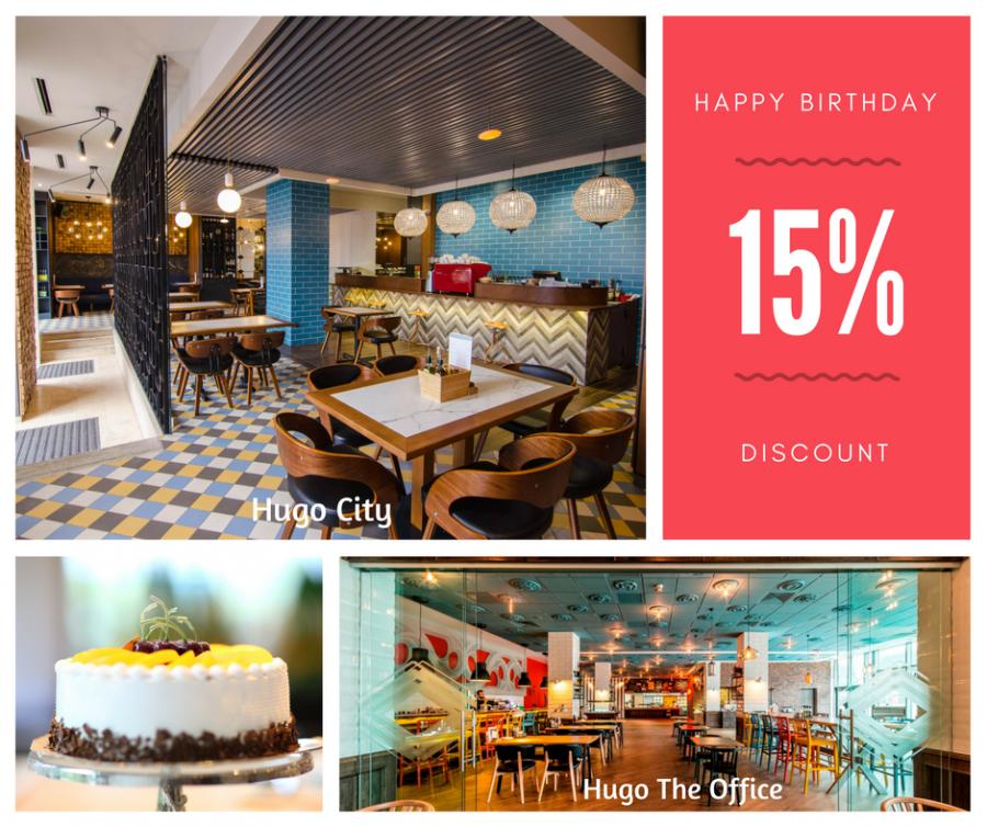 Happy Birthday to you! @ Hugo Restaurants