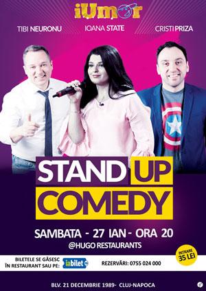 Stand-up comedy cu Tibi Neuronu, Ioana State și Cristi Priză