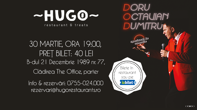 One Man Show, Doru Octavian Dumitru la Hugo The Office!
